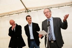 Jean-Pierre Gaboriau, l'élu GAEL de Châteauneuf-en-Thymerais, ouvre la nouvelle saison d'Arts Itinérance
